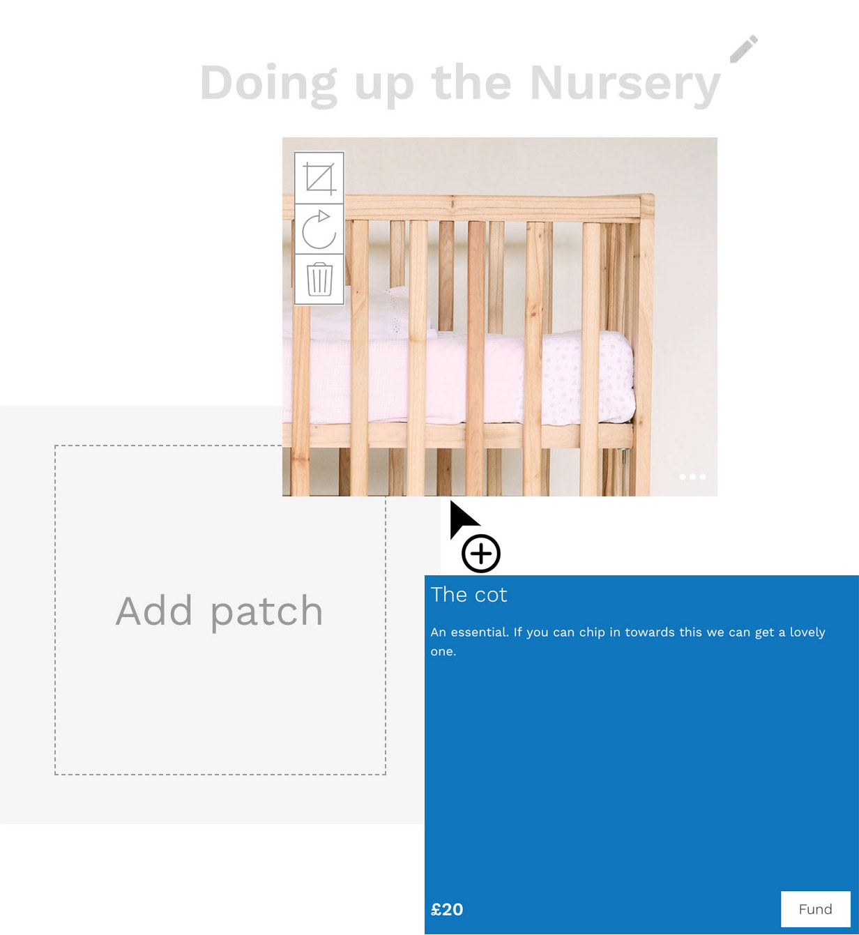 Editing a patch within a nursery patchwork