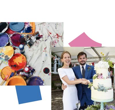 Anna and Ollie asked for art as their wedding gift registry