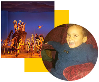 Rudy's Lion King Theatre Trip
