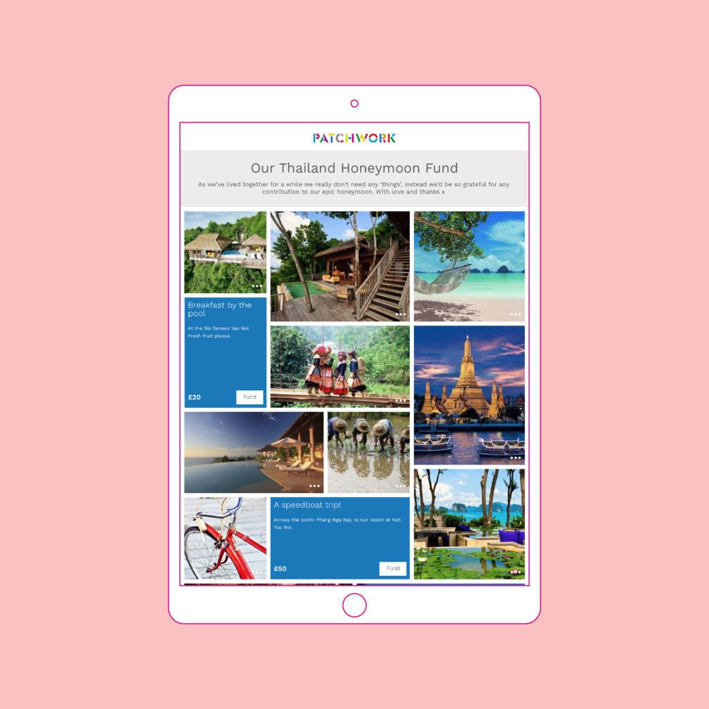 Patchwork Honeymoon fund Thailand