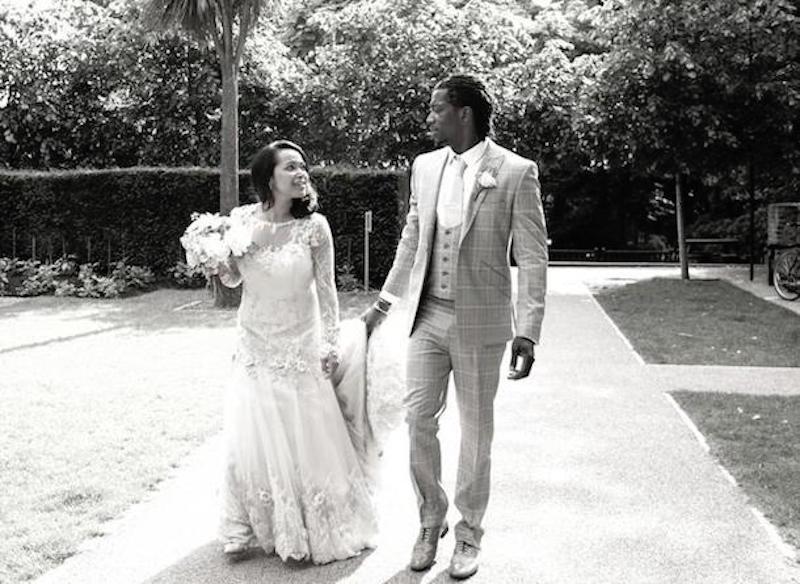 patchwork Jason Jennings wedding dress