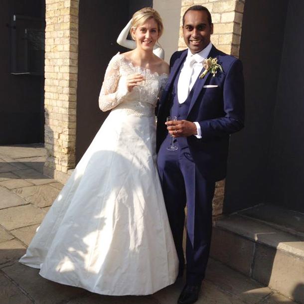 East meets West wedding couple