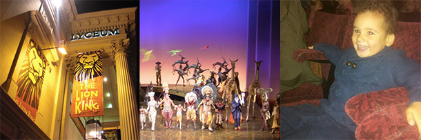Kids birthday gift a theatre trip to The Lion King