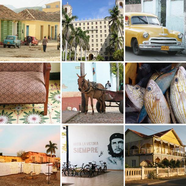 back-packing around Cuba honeymoon patchwork