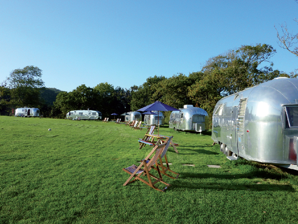 American Airstream on the Isle of Wight - unique familymoon ideas
