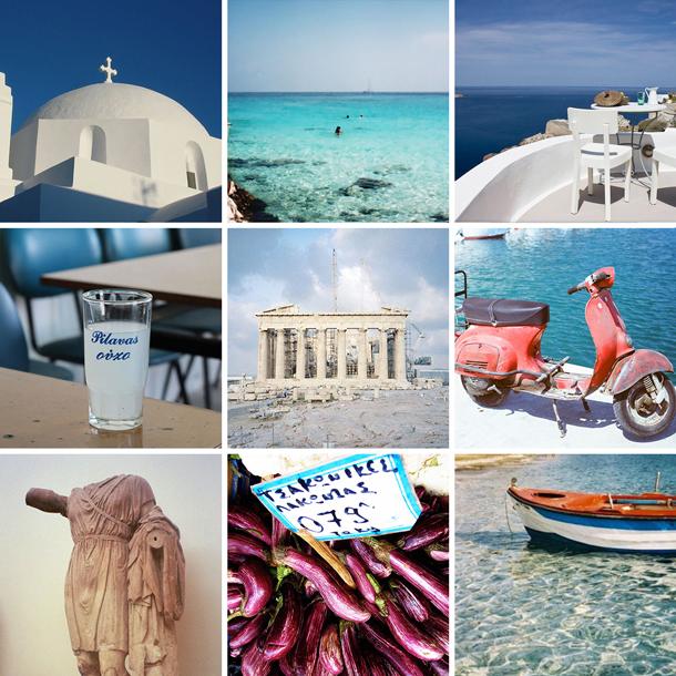 Island hopping in Greece honeymoon patchwork