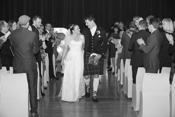 Alternative wedding list - groom in kilt