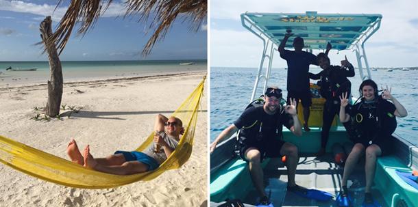 honeymoon adventure Mexico patchwork