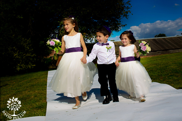 flower girls and page boys outdoor wedding