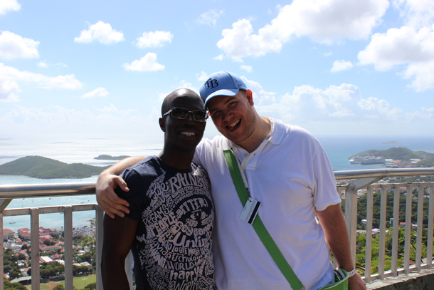 gay BAME couple on honeymoon