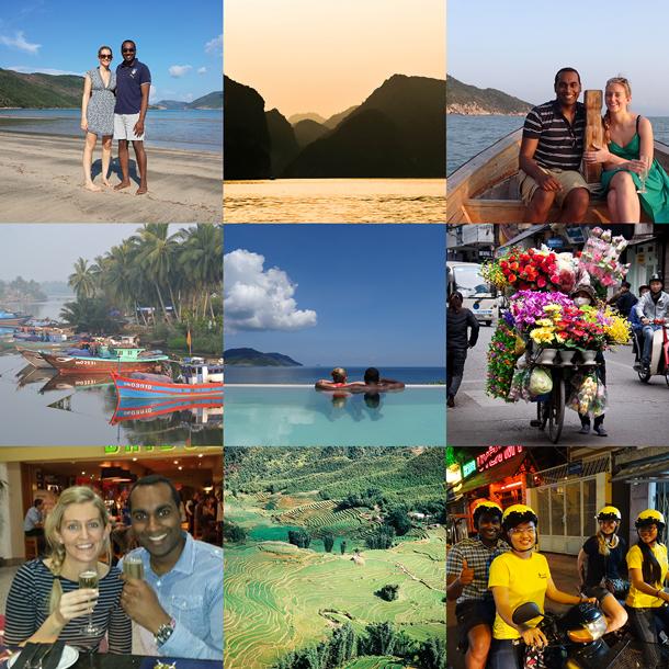 Honeymoon to Vietnam patchwork honeymoon fund