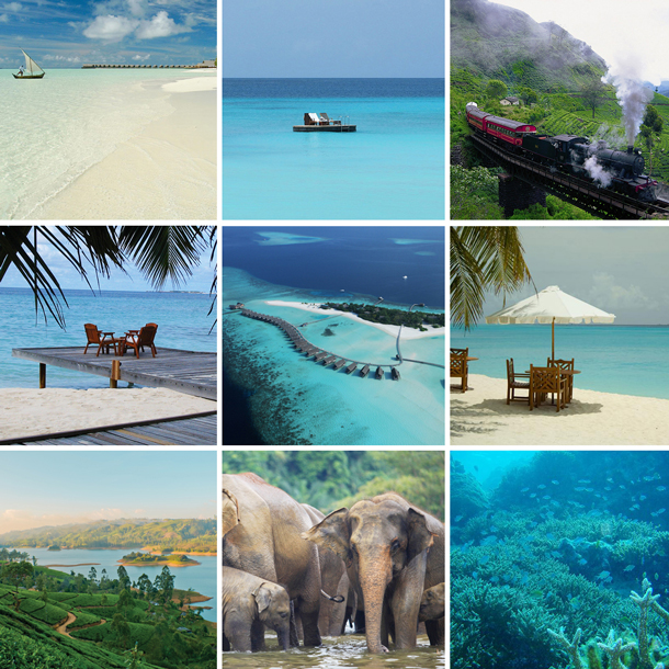 Tailor made honeymoon to The Maldives patchwork