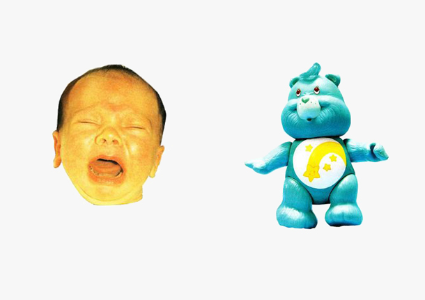 baby crying and care bear worst gifts ever