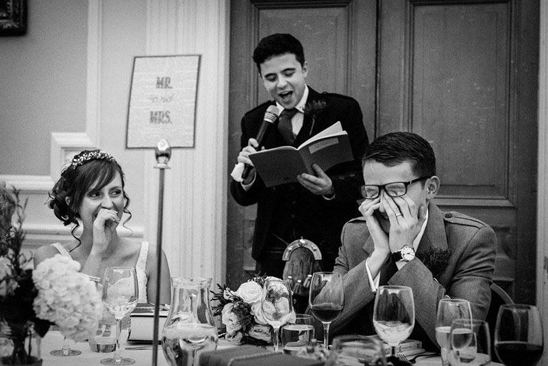 happy couple speeches wedding day patchwork honeymoon fund