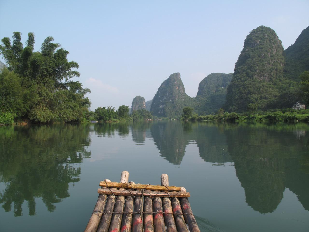 bamboo raft China gap year travel