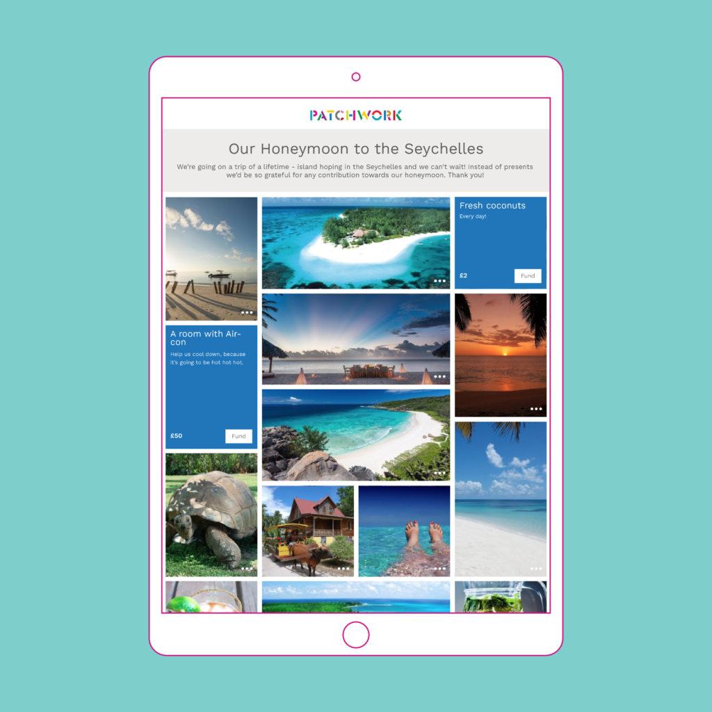 Patchwork Honeymoon Fund Seychelles