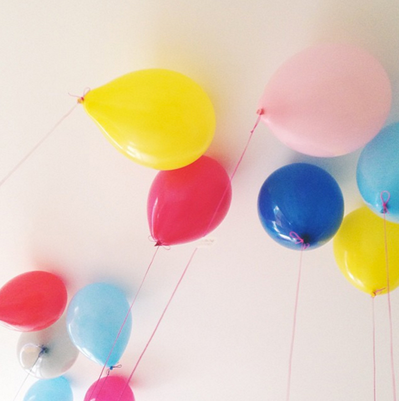 coloured balloons at a surprise party Patchwork