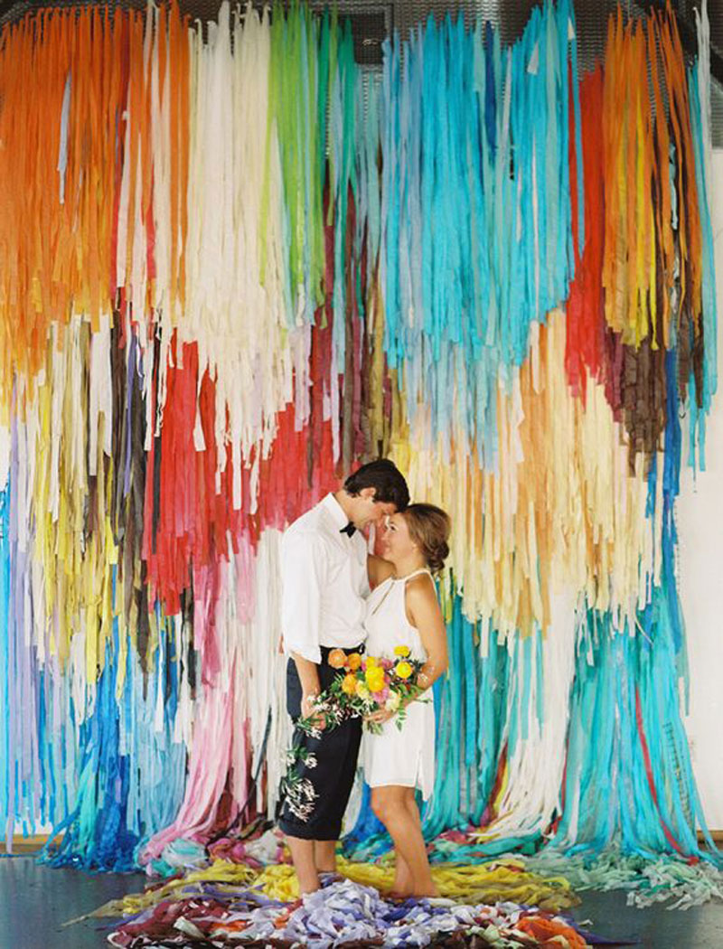 creative wedding decoration ideas patchwork