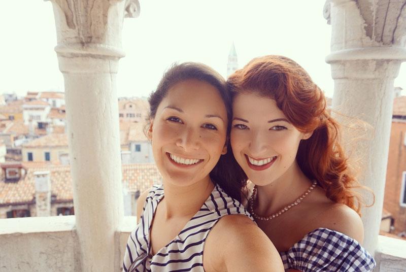 Claudia & Jessica on honeymoon in Venice