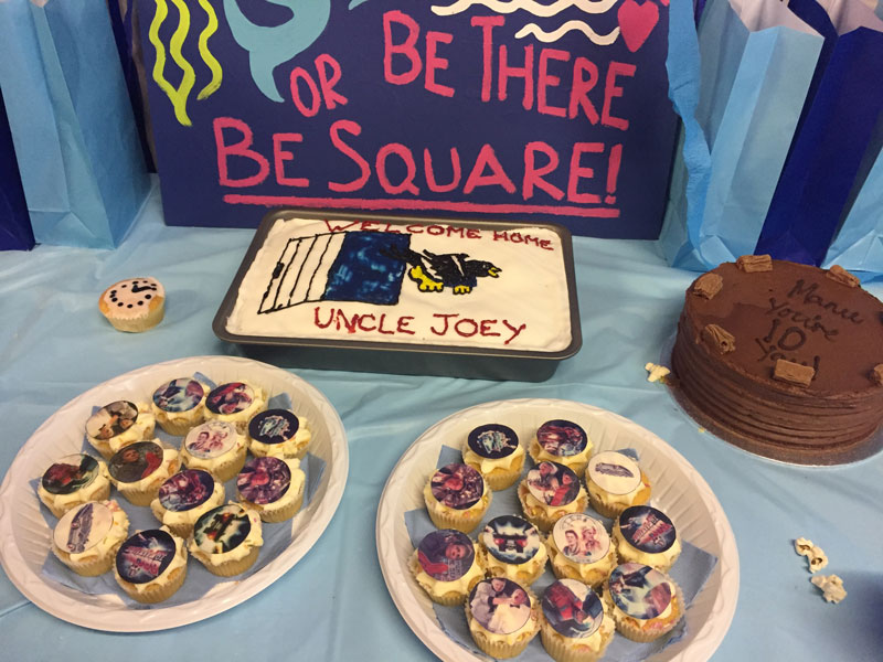 Back to the Future themed patchwork party