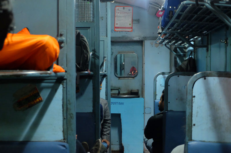 travel by train in India - career break funded with Patchwork