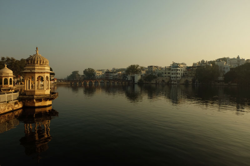 solo travel in India - view of river
