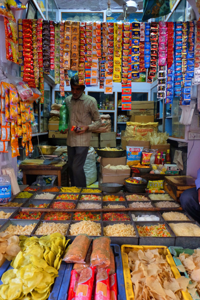 market stall India - career break travel Patchwork