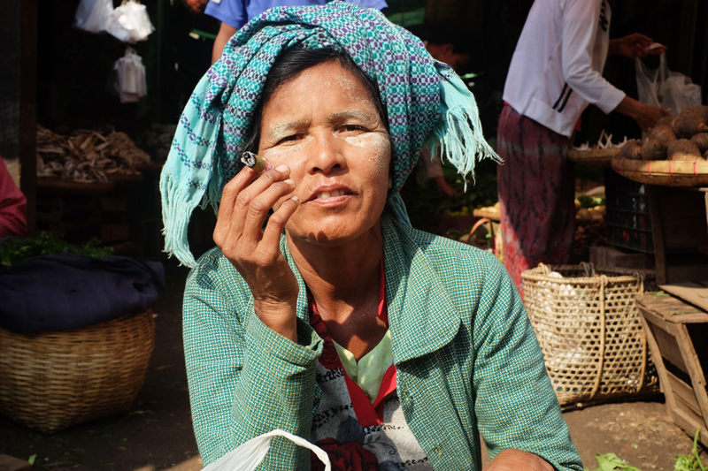 Patchwork travel Myanmar