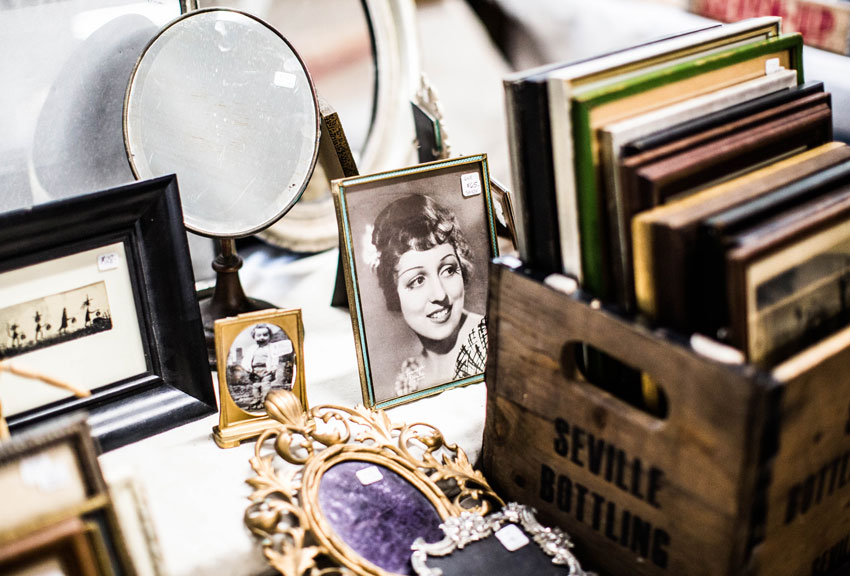 vintage-items-on-table-at-a-market