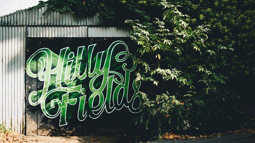 grafitti hilly fields