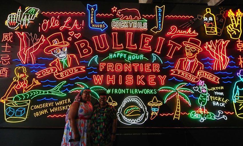 lesbian-couple-honeymoon-los-angeles-neon-signs