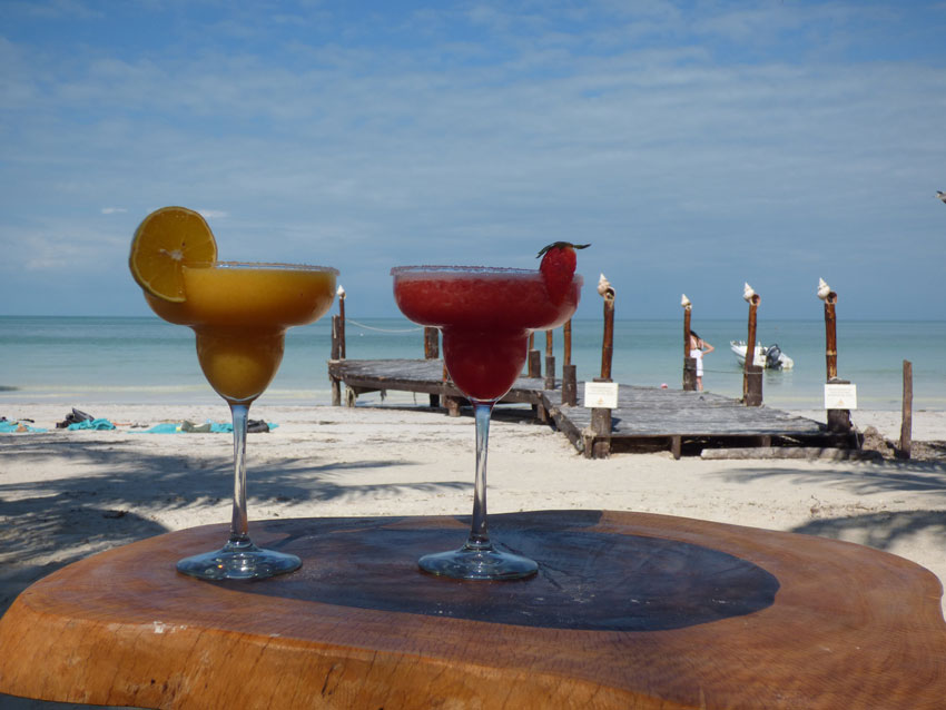 cocktails on mexican beach patchwork honeymoon fund