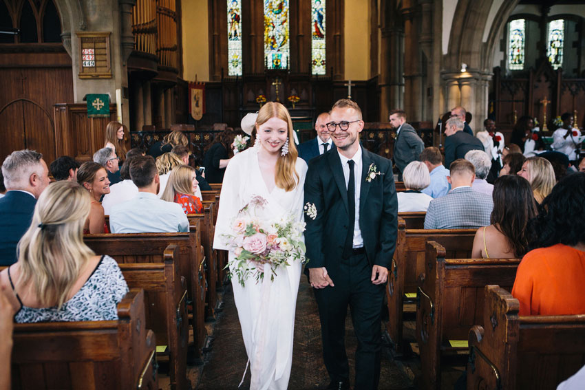 stylish church wedding east london