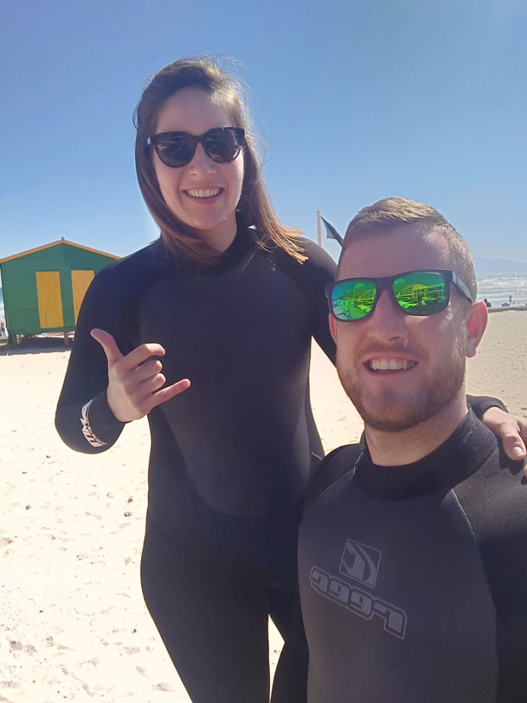 surfing South Africa honeymoon fund