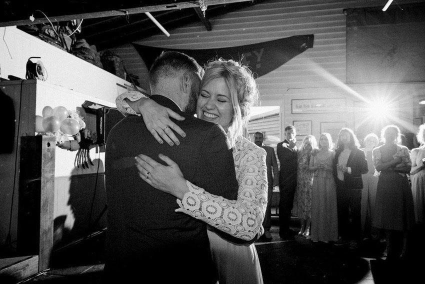 first dance wedding whitstable lobster shack