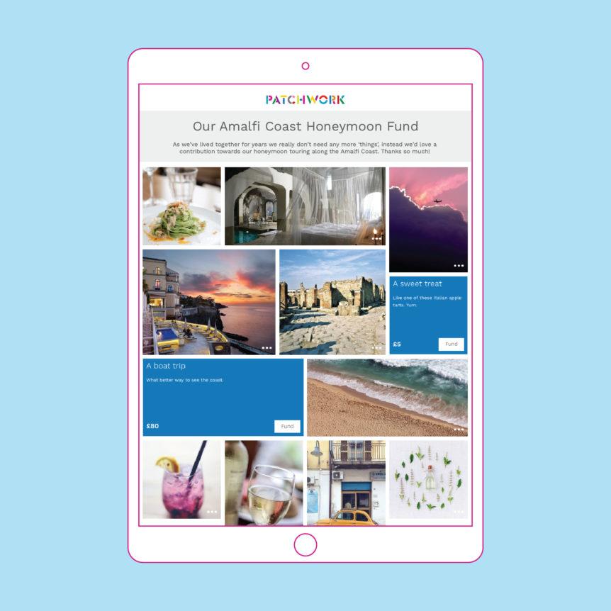 amalfi coast honeymoon fund patchwork