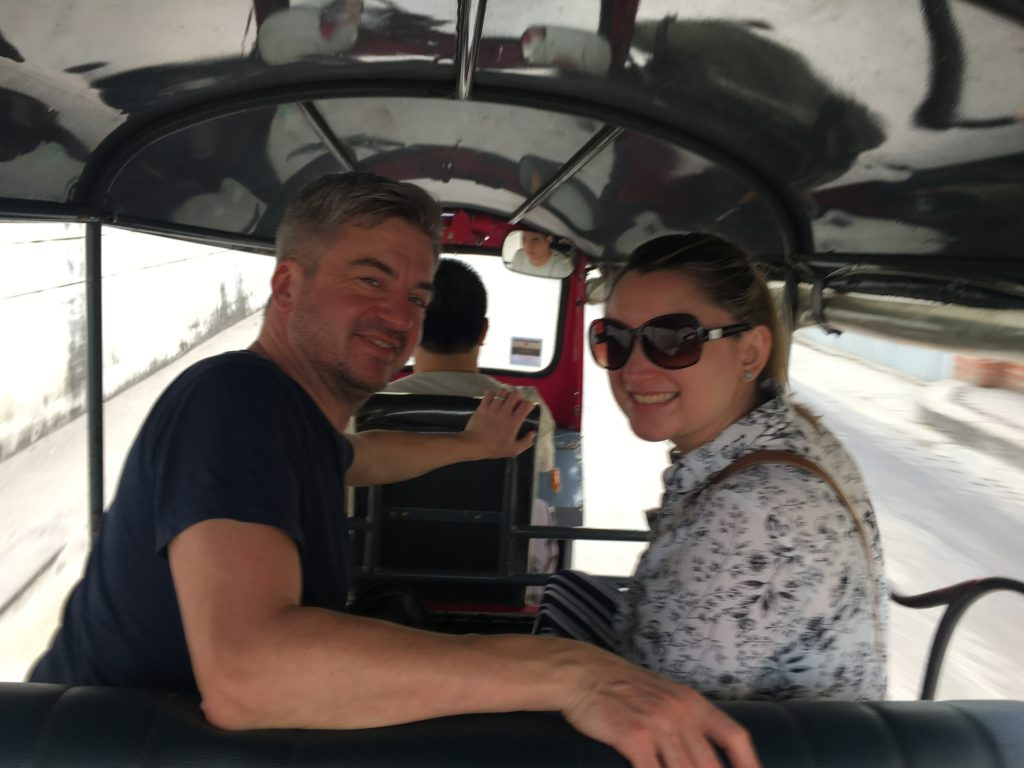 Patchwork Couple Emma & Mark on honeymoon in Thailand