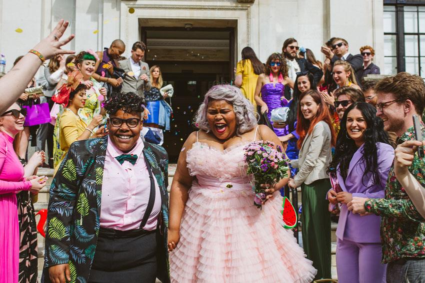 colourful diy wedding patchwork