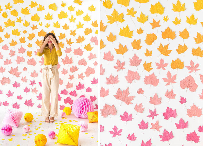 ombre-leaf-backdrop-wedding-diy-patchwork