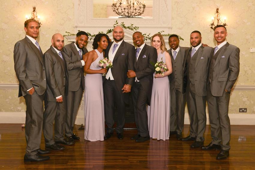 Black Gay Patchwork Couple group wedding photo