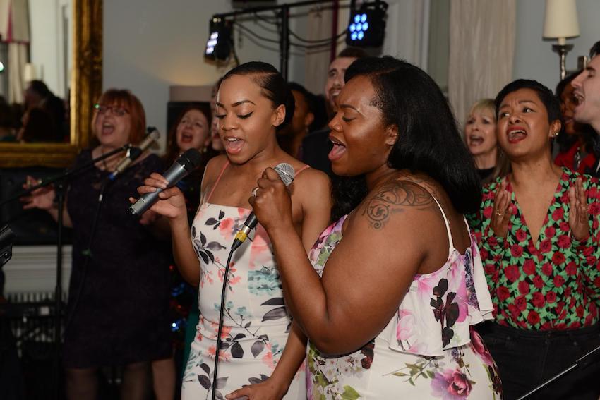 Patchwork Couple gospel choir singing