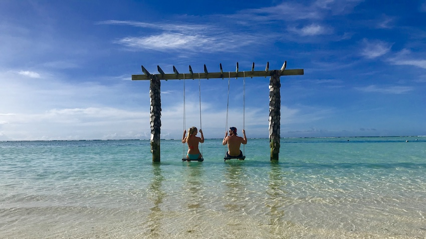Patchwork Couple Honeymoon Maldives