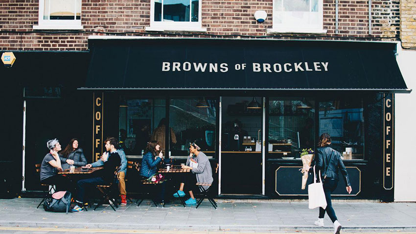 Browns, coffee, Brockley, South-East London