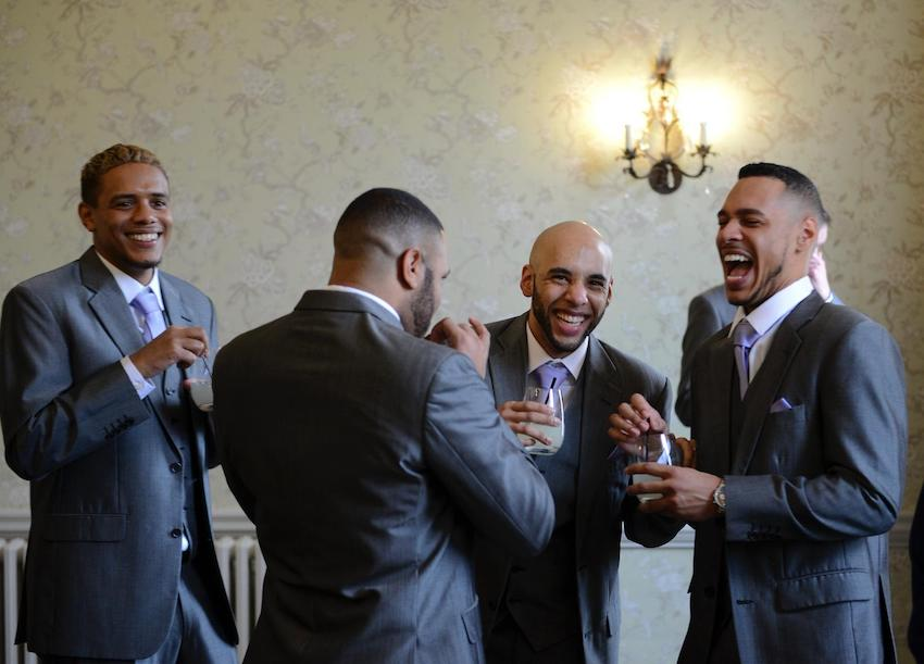 Black Gay Patchwork Couple wedding day