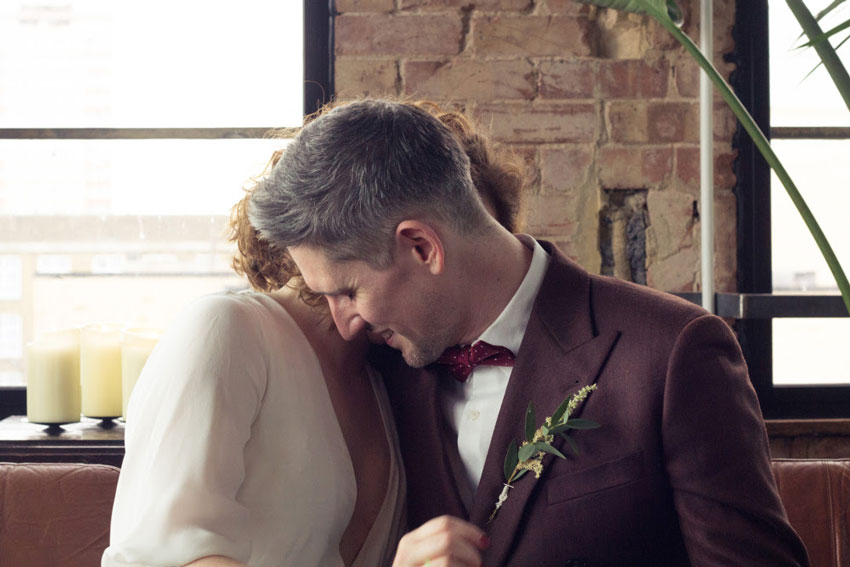 Patchwork couple Phoebe and Stuart, London wedding