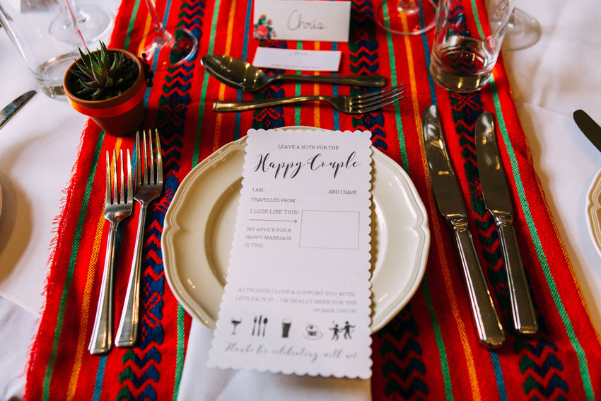 Mexican inspired table setting