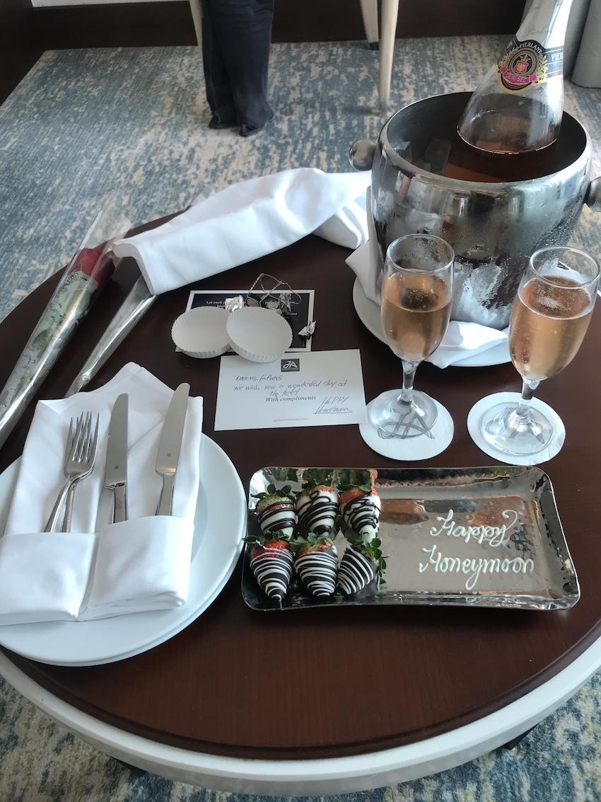 Luxury hotel honeymoon