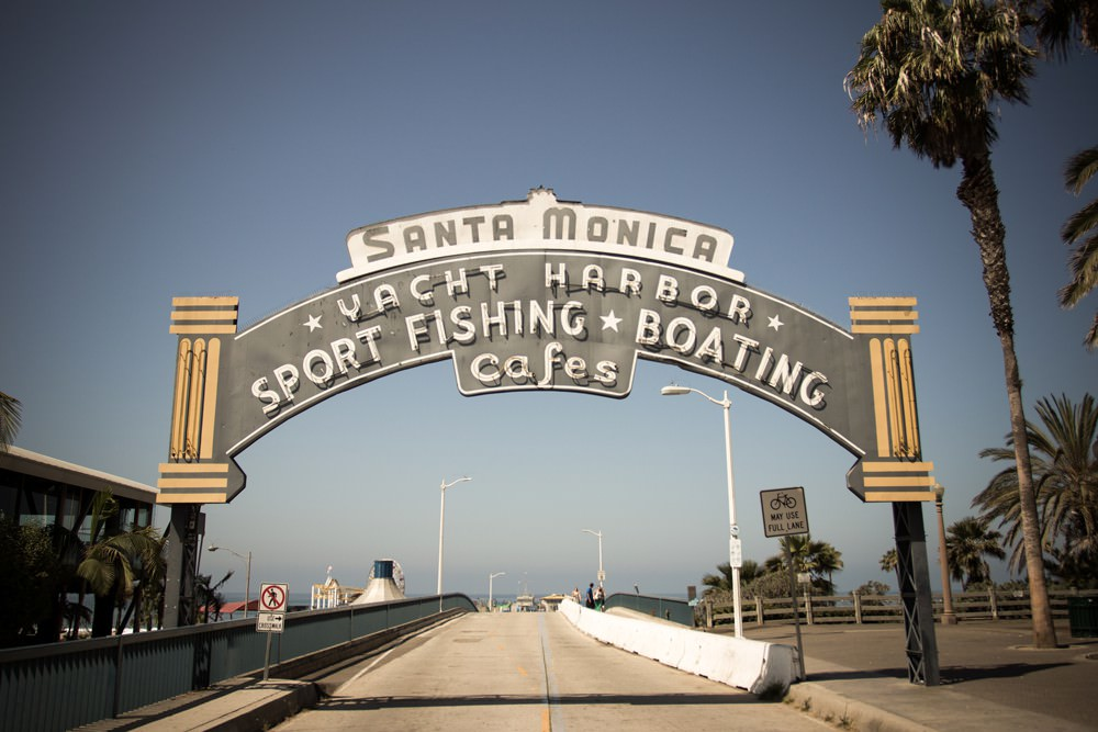 Santa Monica Yacht Harbor road sign