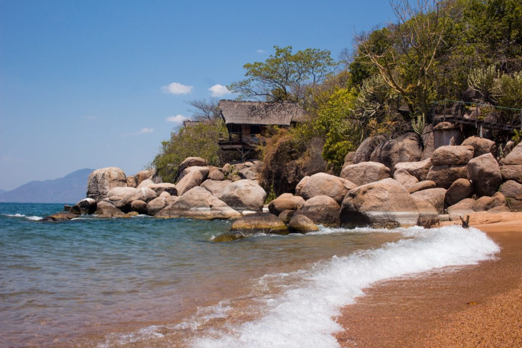 Secluded beach in Malawi