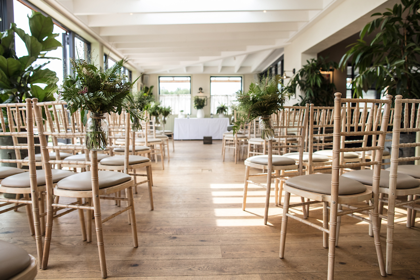 The Gallivant set up for wedding reception